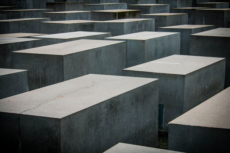 Full frame shot of concrete structure, holocaust memorial in berlin