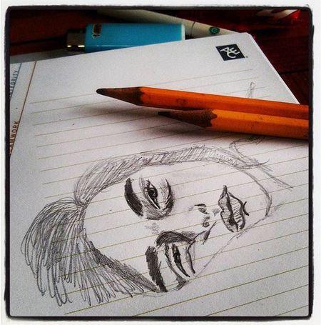 When inspiration strikes, let it take over. I kinda miss doing this. ✏Inprogress Pencil Sketches Portraits MelsMood Artattack ExpressIt MeCurrently