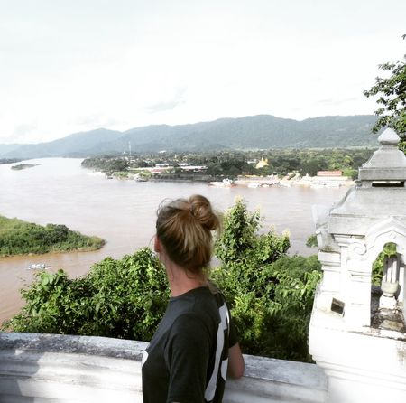 Golden Triangle Thailand Laos Myanmar Rear View Water Outdoors Young Adult Travel ✈ Religion Chiang Rai Architecture History Tourism Spirituality Boarder