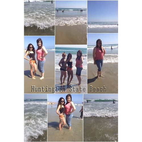 A great day to spent my weekend going to Huntington State Beach with my girls @rafa_ruby & @caroljasmine_ 😚💨🌊☀️👙💄and brother in law and brother Mario Montoya 💯👌! Sunnyday Memorialday Monday Beachday Família Friends Day Huntington State Beach ☀️😚💨👙💄💕🌊🍃 Best  Day Ever Love Them 😘💯👌❤️💕🌊🍃😚💨☀️👙💄