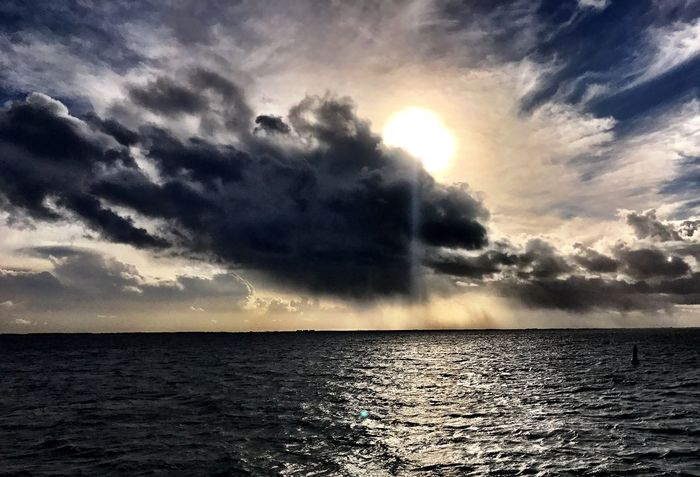 Sea Scenics Beauty In Nature Sky Nature Tranquility Tranquil Scene Cloud - Sky Horizon Over Water Sunset Water Idyllic No People Outdoors Waterfront Dramatic Sky Sunbeam Sun Day Art Is Everywhere