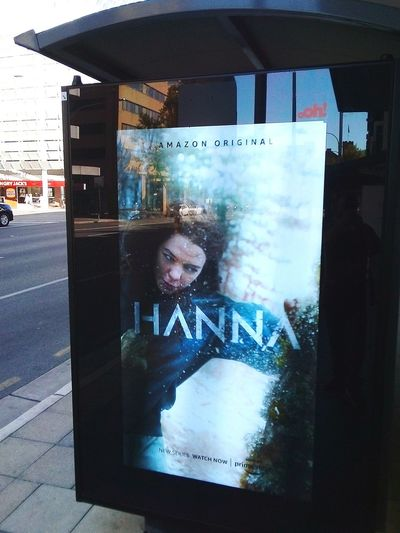 Hanna👩 Taking Pictures Adelaide S.A. Females Woman MOVIE Movie Poster Cinema Poster Poster Notices Hanna Signs, Signs, & More Signs Sign Illuminatedsigns Streetphotography SIGN. One Person Street Photography Taking Photos Street Illuminated Signs Signs & More Signs Road Adelaide, South Australia Adelaide Communication Close-up