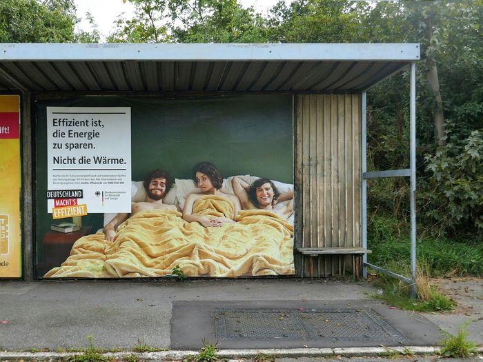 Deutschland macht's effizient Advertisement Posters Outdoors Billboard Busstop Efficient Germany