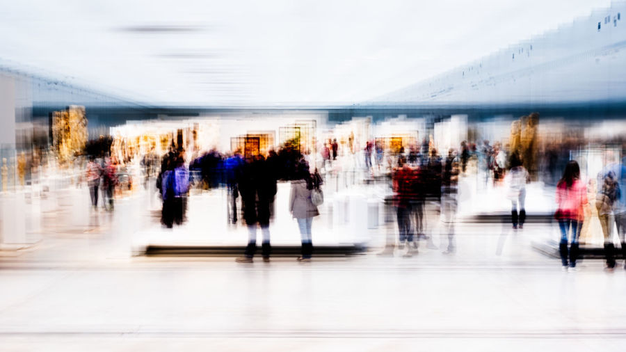 Abstract Photography Abstract Adult Adults Only Blurred Motion Crowd Day Indoors  Large Group Of People Lifestyles Men Motion Movement People Real People Speed Walking Women