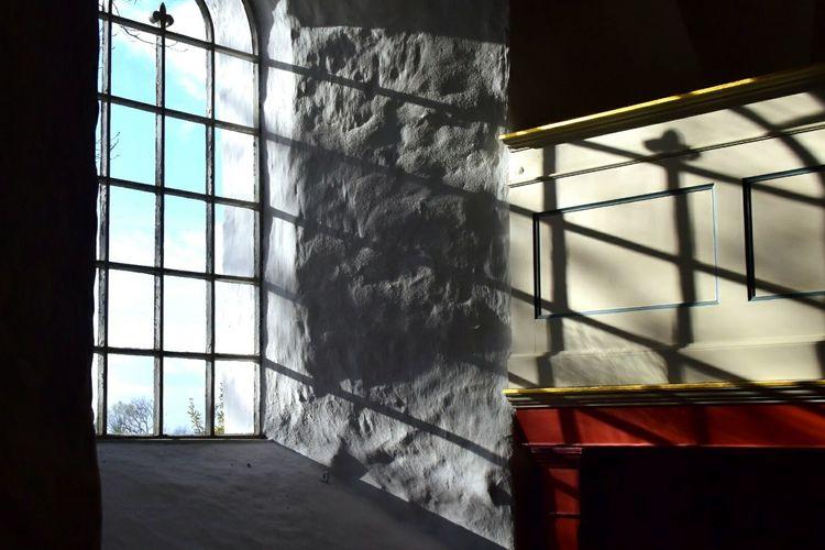 Interior Church in Agri Kirke Mols Shadows Ironwork