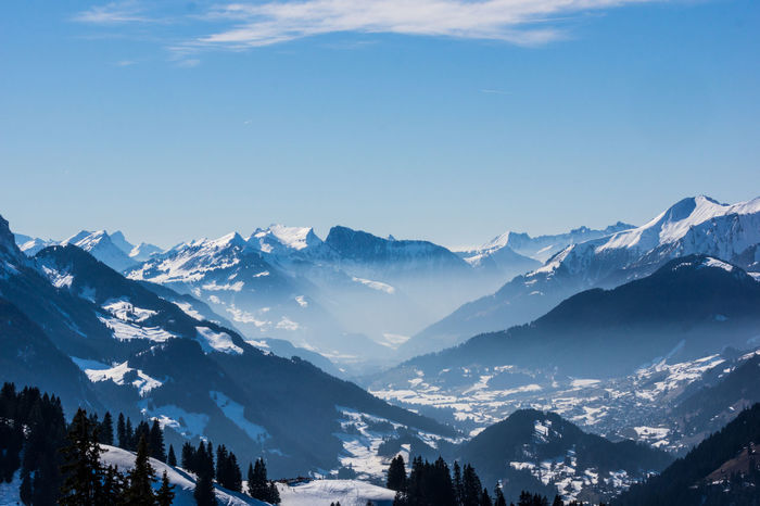 view from PasaTiempo Aerial Perspective Aerial Photography Aerial View Beauty In Nature Blue Cold Temperature Day Foggy Gstaad Landscape Mountain Mountain Range Nature No People Outdoors Range Saanen Scenics Sky Snow Snowcapped Mountain Switzerland Tranquility Valley Winter Shades Of Winter