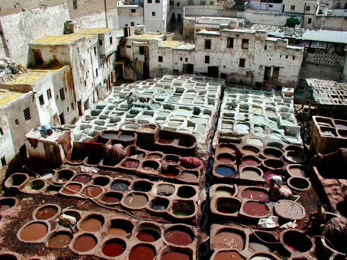 Färbergasse, Marrakech 🎨🕌🐪✨ No People High Angle View Day Architecture Large Group Of Objects Sunlight My Best Photo Outdoors Backgrounds Abundance Arrangement Built Structure Nature Building Old Decline Deterioration Bad Condition Damaged Building Exterior Run-down Architecture Bad Condition Container Stack Dye Textile