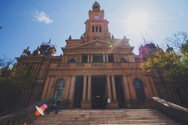 Townhall Architecture Travel City Outdoors Bedview Camera Porn Sydney, Australia Leisure Activity The Week On EyeEm Sunset Cloud - Sky High Angle View Downtown District Cityscape Architecture Building Exterior City
