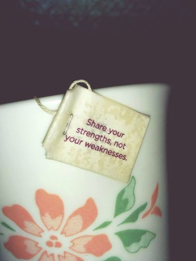 Good morning! =) Tea Time Positive Vibes