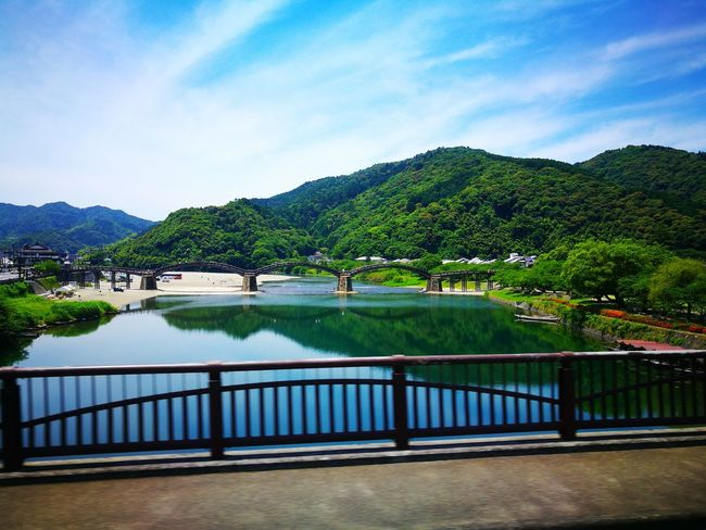 Sky Nature Water Japan Looking At Camera Japanese Culture Bridge Plant