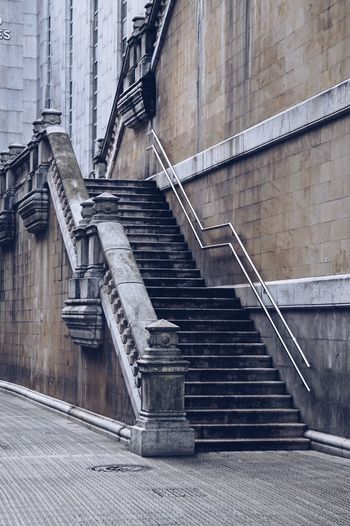 Stairs architecture in the city