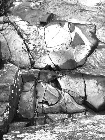 Textured  Black And White Cracked Stone Outdoors Nature Architecture Desolate Close-up No People Abstract Nature Abstractions In BlackandWhite Abstractions Perspective Still Life Views View Scenic Shapes In Nature  Weathered Landscape Scenics Natural Architecture Layers And Textures Backgrounds