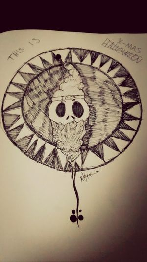 Jack Skellington Sharpie Pen My Drawing