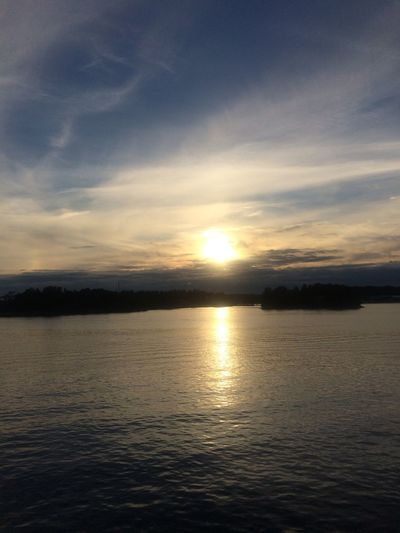 Water Sky Sunset Scenics - Nature Tranquility Sea Tranquil Scene Beauty In Nature Cloud - Sky Reflection Nature Idyllic Horizon Over Water Horizon Sunlight Seascape Dramatic Sky Outdoors