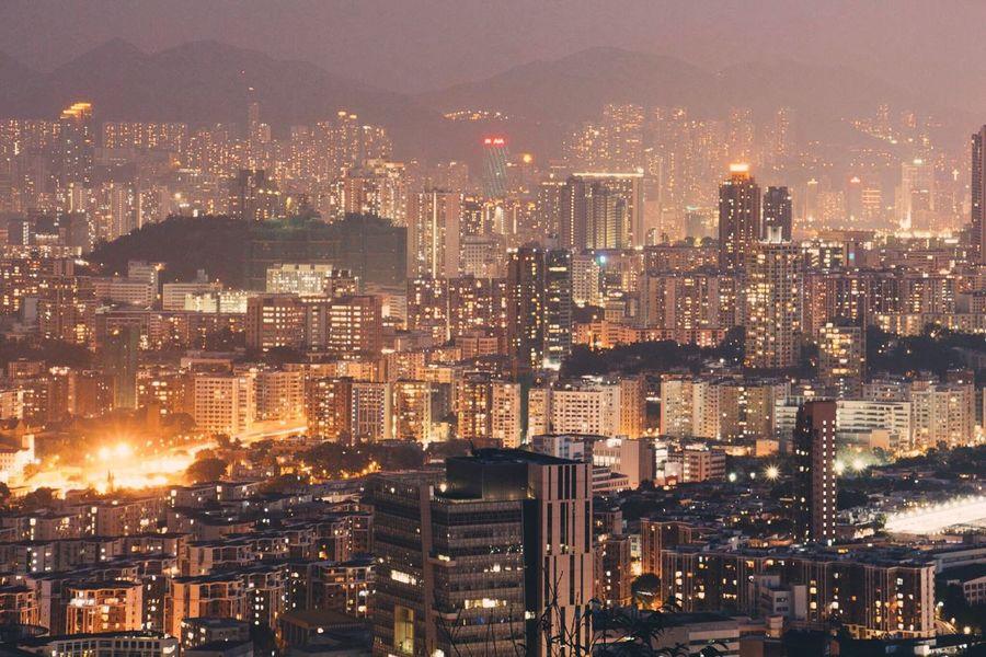 HongKong City Landscape Urban Building Exterior Cityscape Skyscraper