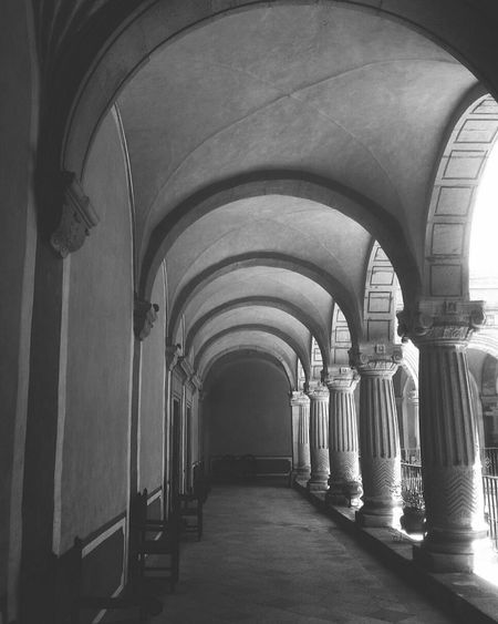 Arch Built Structure History Corridor Convento Blackandwhite Blanco Y Negro Architectural Column Arcos Your Ticket To Europe