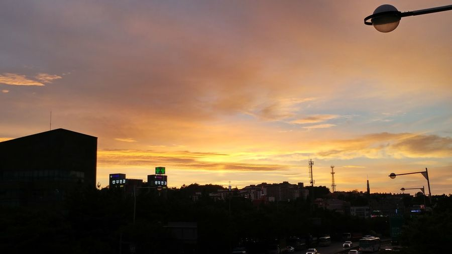 Gimpo Sunset Cloud - Sky Night Beauty In Nature First Eyeem Photo