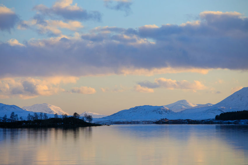 Loch Laidon Nature Scotland Sky And Clouds Tadaa Community Winter Lake View Landscape No People Scottish Highlands Snow Covered Landscape