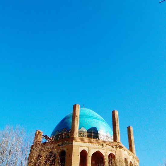 Iranian architecture / Soltanieh Dome Blue Clear Sky Sky Iranian Architecture Architecture Soltanieh_dome Zanjan Iran