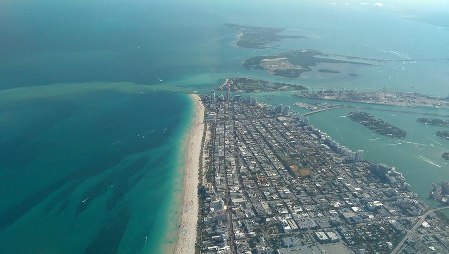 Sobe 10601714 High Angle View Aerial Miami Beach Miami Florida Sea Aerial Photography Aerial View Travel Destinations Aerial Shot Travel