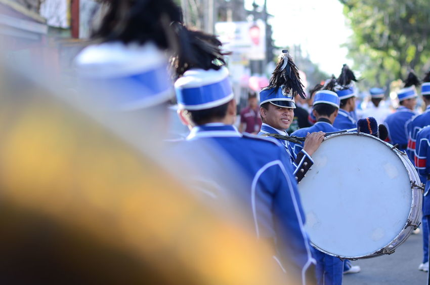Arts Culture And Entertainment Day Drummerboy Men Parade Selective Focus Smiling :) Street