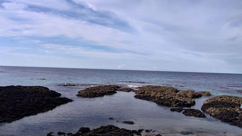Water Sea Beach Rock - Object Sky Horizon Over Water Cloud - Sky Coast Tide Seascape Low Tide