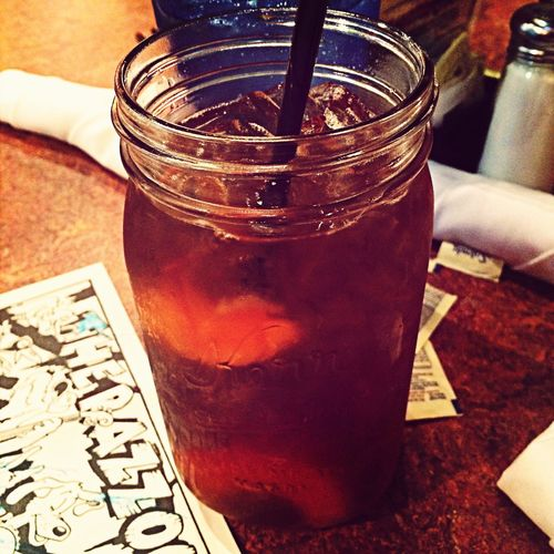 In Texas, you are served sweet tea in a mason jar. Texas Love South Sweettea