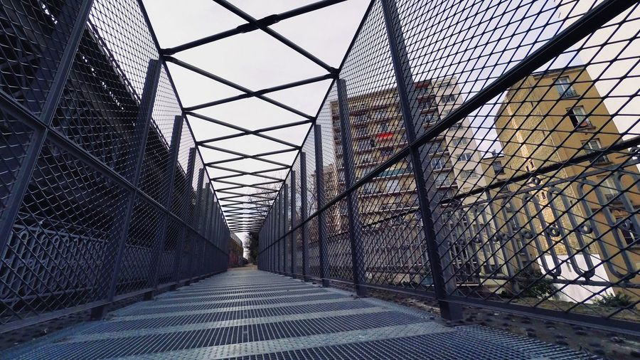 Architecture Built Structure The Way Forward Metal Modern Day City Iron - Metal Steps And Staircases Sky Elevated Walkway Residential Building Outdoors City Cage Bridge
