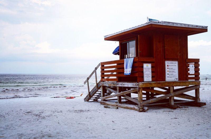 Florida Beach Sea Day Water Florida Baywatch Lifeguard Station
