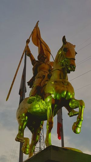 Animal Representation Architecture Built Structure French Martyr Horse Horse Statue Human Representation Joan Of Arc Outdoors Sculpture Statue