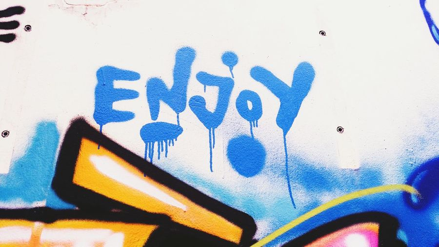 Wall graffiti.