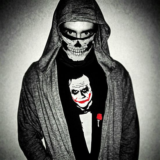 Halloween The Joker Grandfather Skull The Purge Custome