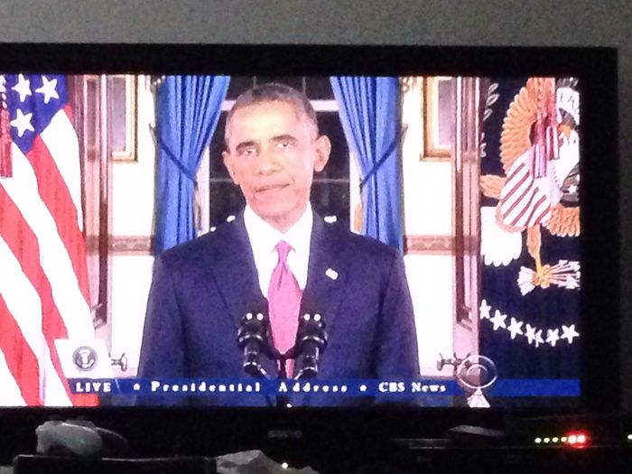 Taking Photos of President Obama during his speech.. Check This Out Real Eyes Realize Real Lies Hello World