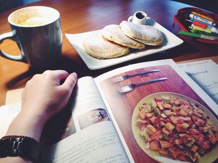 Datewithmyself Latte Pancakes Enjoying Life