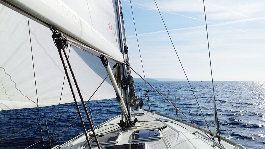 Velero Mallorca Sea And Sky Sailboat Sea Photography