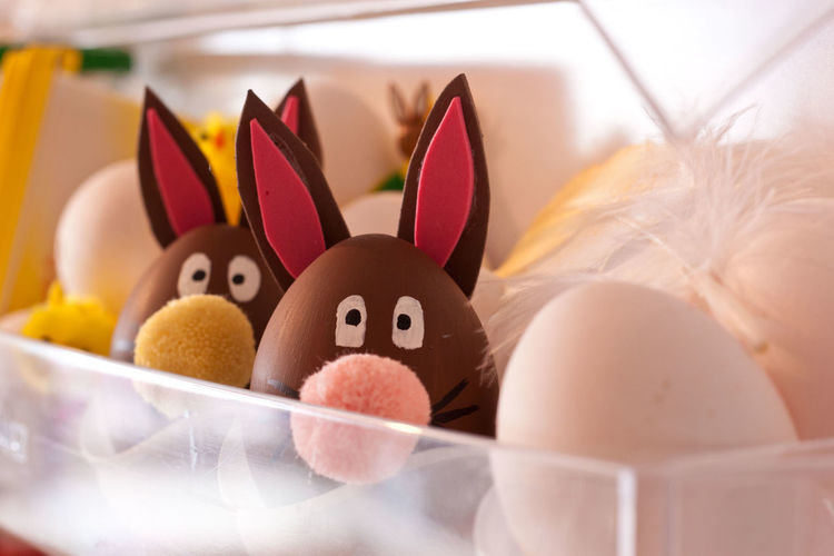 Easter Bunnies In Tray