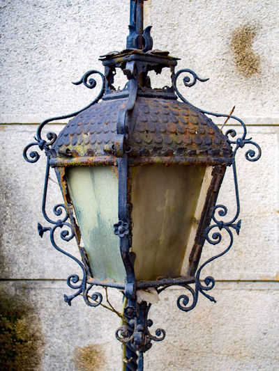 Antique Architecture Built Structure Close-up Lamp Lamp Post Lamppost Metal No People Old Old-fashioned Outdoors Passing Time Past Rust Rusted Rusty Rusty Metal Rusty Things Texture Textures Textures And Surfaces Wrought Iron Wrought Iron Design Wroughtiron