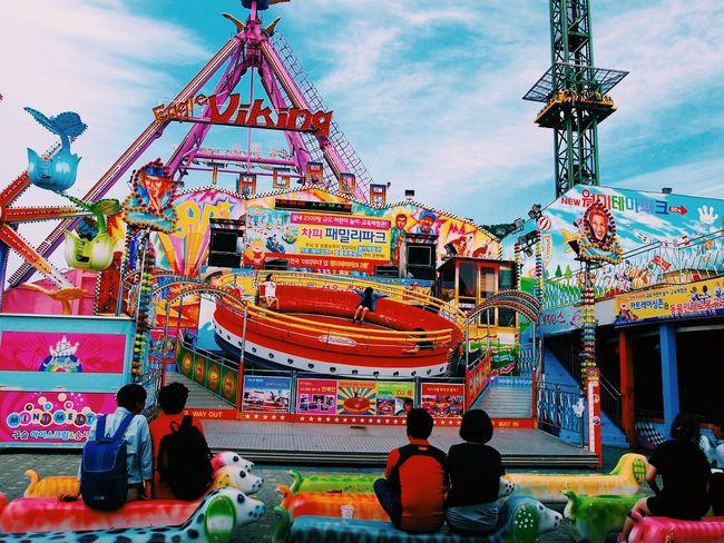 Amusement Park Vscocam Wolmi Isaland Incheon Korea South Korea Viking