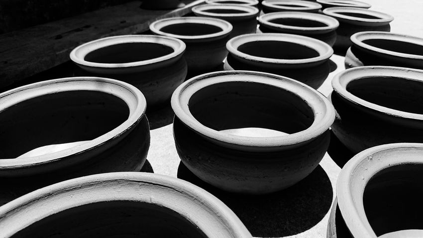 Thanh Ha Ceramic Sunlight Vietnam Blach And White Ceramics No People PhonePhotography First Eyeem Photo