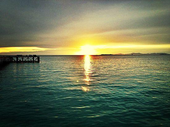 Sunset over Mabul Island, Sabah. Island Life
