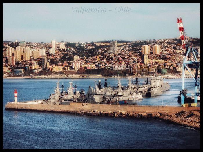 Molo de Valparaíso, Chile. Sea Harbor Nautical Vessel Puerto Buques