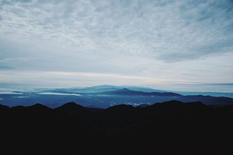 Horizon on a mountain Betterlandscapes Climbing Costa Chirripo Silhouette Beauty In Nature Nature Tranquil Scene Tranquility Sky No People Mountain Scenics Outdoors