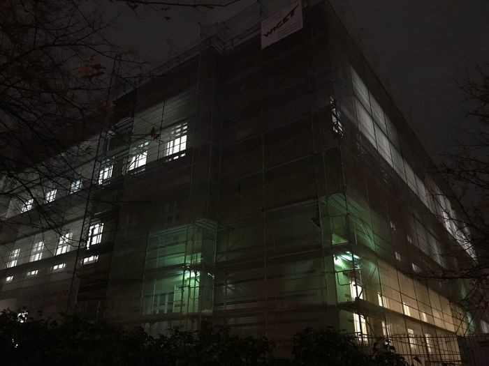 Architecture Building Exterior Built Structure Night Illuminated Low Angle View No People Architectural Style Outdoors Sky Abendschule Vor Dem Holstentor