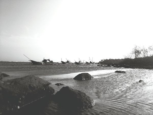 Fishing boats.. Sea Beach Nature Outdoors Beauty In Nature EyeEmNewHere Natureaddiction Naturelover Travel Destinations Beachwalk Landscape Nature Collection Conservative Nature Naturephotography Fishingboat Fisherman Wonderful Indonesia Wonderful Place Fishing Time Rock - Object Coral Reef Waves And Sand Saltwater Bright Sky Blackandwhitephotography