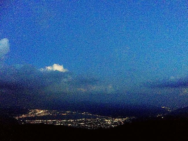 2018.06.02 の #高ボッチ山 の #夜景 。 #iPhone写真 ( #iPhone6Plus ) なので、なおのこと写りが悪いです。 Iphone6plus IPhone写真 高ボッチ山 No People Nature Blue Night Sky Beauty In Nature Backgrounds