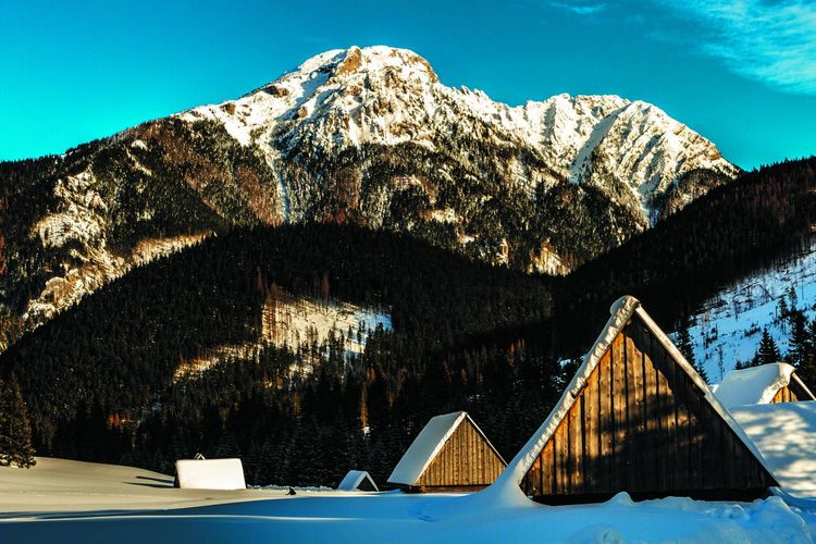 Mountain Snow Nature Winter Cold Temperature Sky Mountain Range No People Architecture Tree Scenics - Nature Beauty In Nature Travel Destinations Outdoors Environment Day Water Built Structure Landscape Mountain Peak Snowcapped Mountain Formation My Best Photo