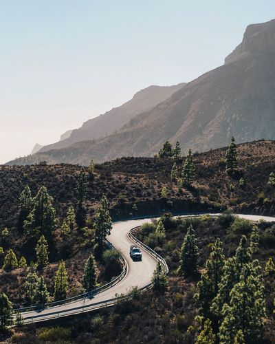 Go where you want EyeEm EyeEm Nature Lover EyeEm Best Shots Gran Canaria Canary Islands Automotive Landrover Defender Land Rover Mountain Mountain Range Outdoors Nature Road Landscape Beauty In Nature Scenics No People High Angle View Day Tranquility Tree Winding Road Sky Clear Sky