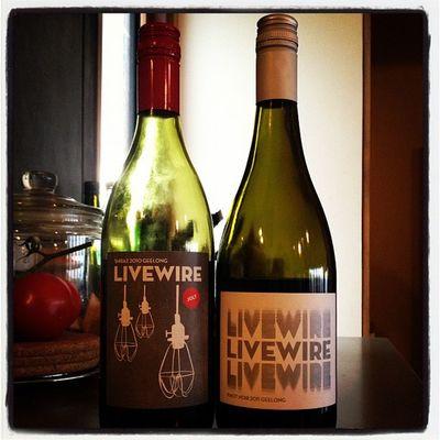 Loving the livewirewines #shiraz2010 and #pinot_noir2011 #bellarine #wine #geelong #victoria Wine Restaurant New Victoria Geelong Bellarine There_there Pinot_noir2011 Shiraz2010