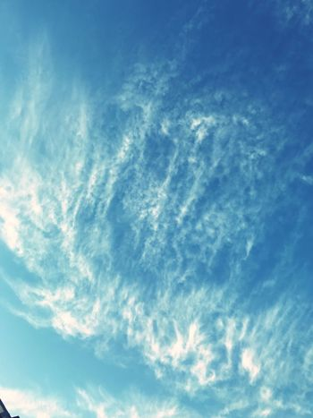Low Angle View Sky Cloud - Sky Beauty In Nature Nature Sky Only Blue Backgrounds Scenics No People Tranquility Outdoors Day Full Frame Tranquil Scene Awe