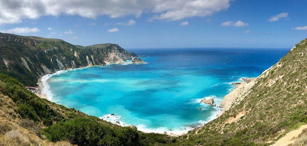 Sea Swimming Enjoying The Sun Remote Blue Summer Greece Blue Sky Tourism Cloud - Sky Vgenop Kefalonia